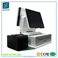 Dual Screen All In One Touch Screen Pos Manufacturers/ Pos Cash Register Suppliers/2017 Touch Screen POS WLL-PB918S