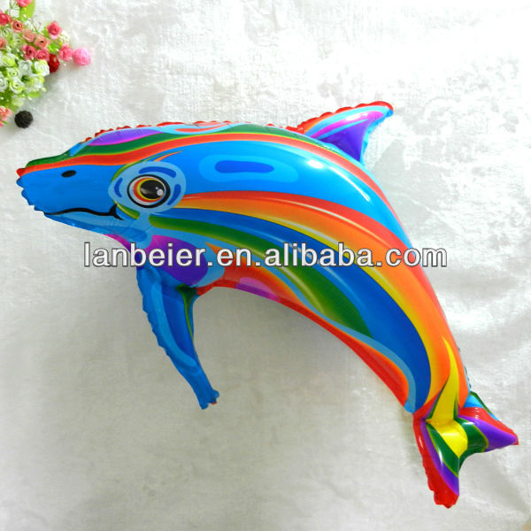 colorful DOPHINE shape sea animal shaped balloon/CE approve