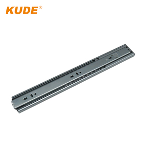 china 3-Fold Steel Balls Bouncing Drawer buffer cabinet hardware desk dining table Slide jig parts