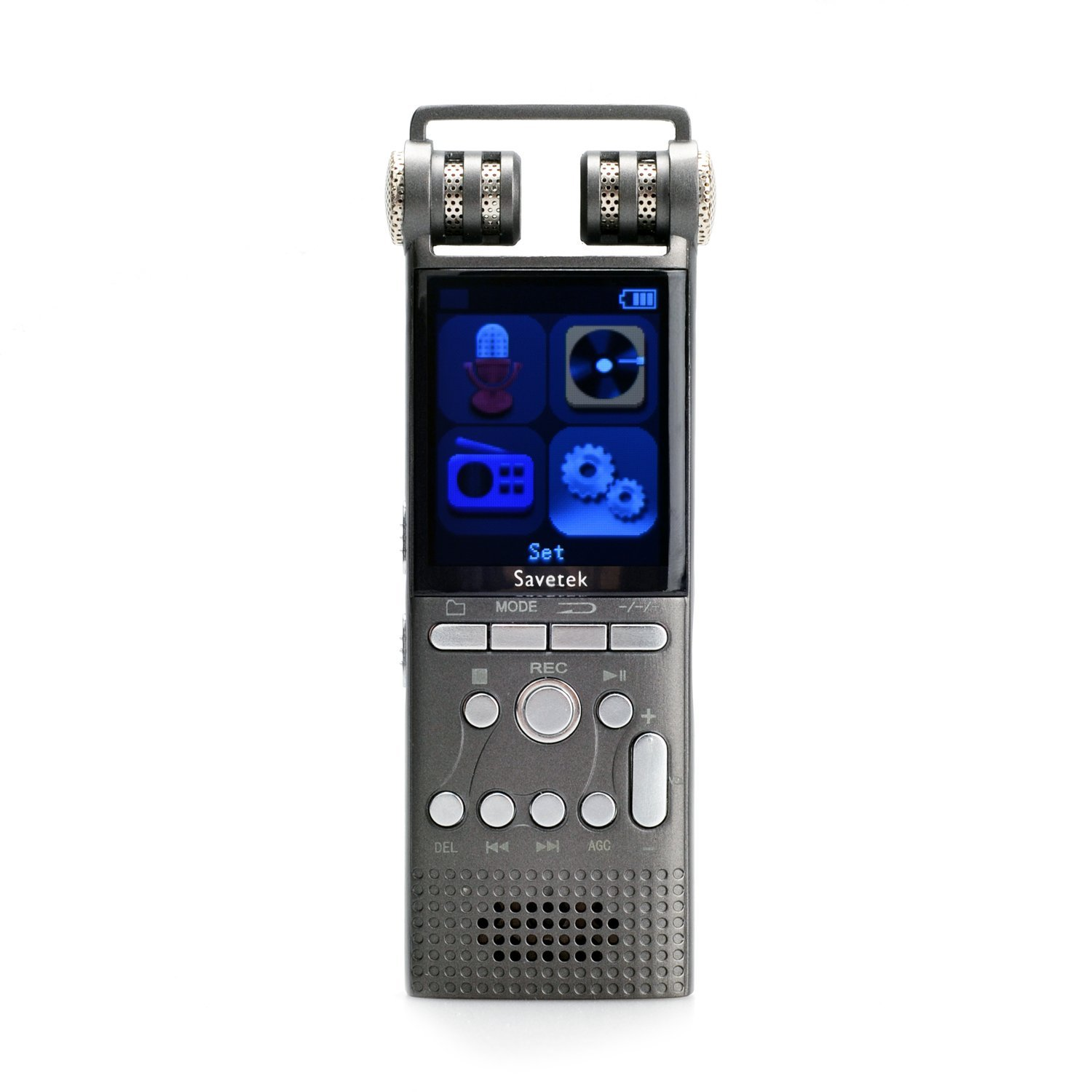 Professional Voice Activated Digital Voice Recorder 16GB USB Spy Pen Non-Stop 100hrs Recroding PCM 1536Kbps,Support TF-Card, Cellphone Recorder and Dictaphone Recorder Mp3 Player