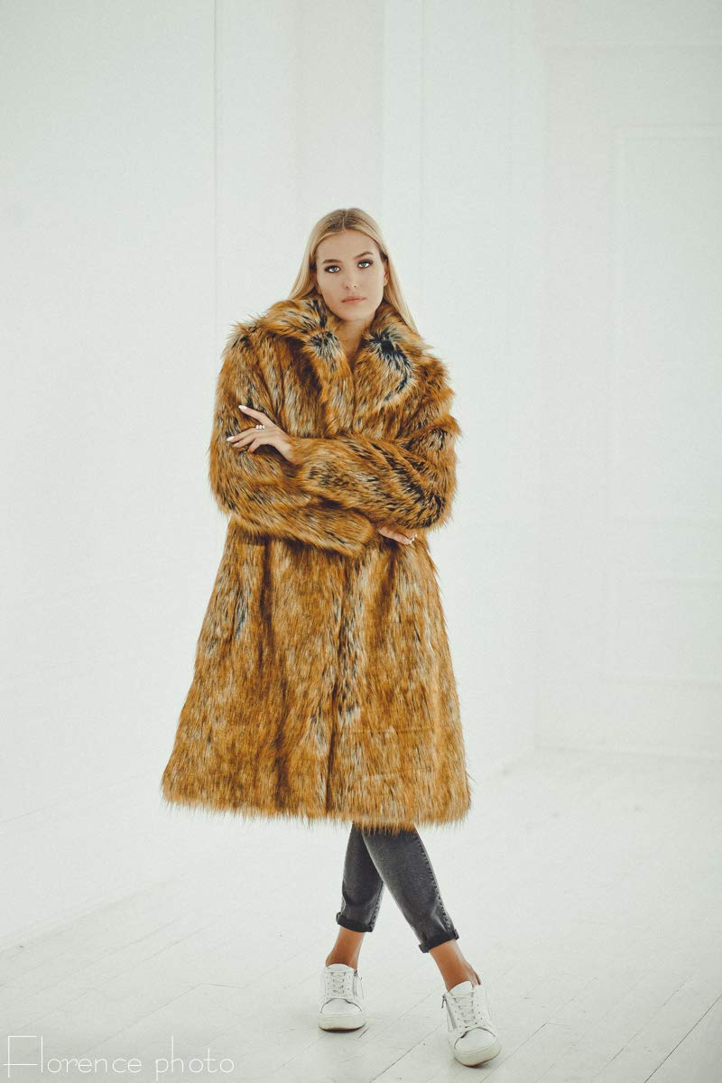 461ae3f4e4 Get Quotations · Red Faux fur coat