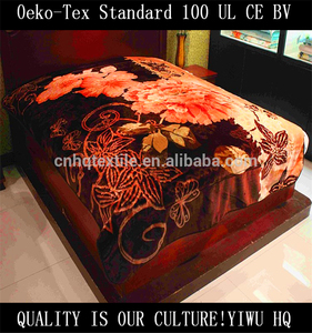A Grade 100% Polyester Burn Out Print Coral Fleece Blanket made in korea blanket
