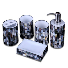 5 star quality Resin hotel toiletry kit With Shell dinning table set Lotion Soap Dispenser soap For luxury home decor Sanitary