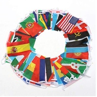 National Country World String Flags Banners,International Party Decorations bunting hanging custom logo party flag