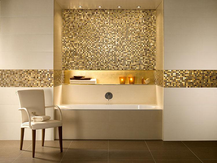 Mm spessore lamina d oro mosaico di vetro di cristallo