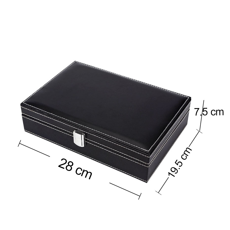Factory Direct Laptop 2 layers Travel Watch Case Ring Holder Organizer Luxury Mirror Jewellery Display Box