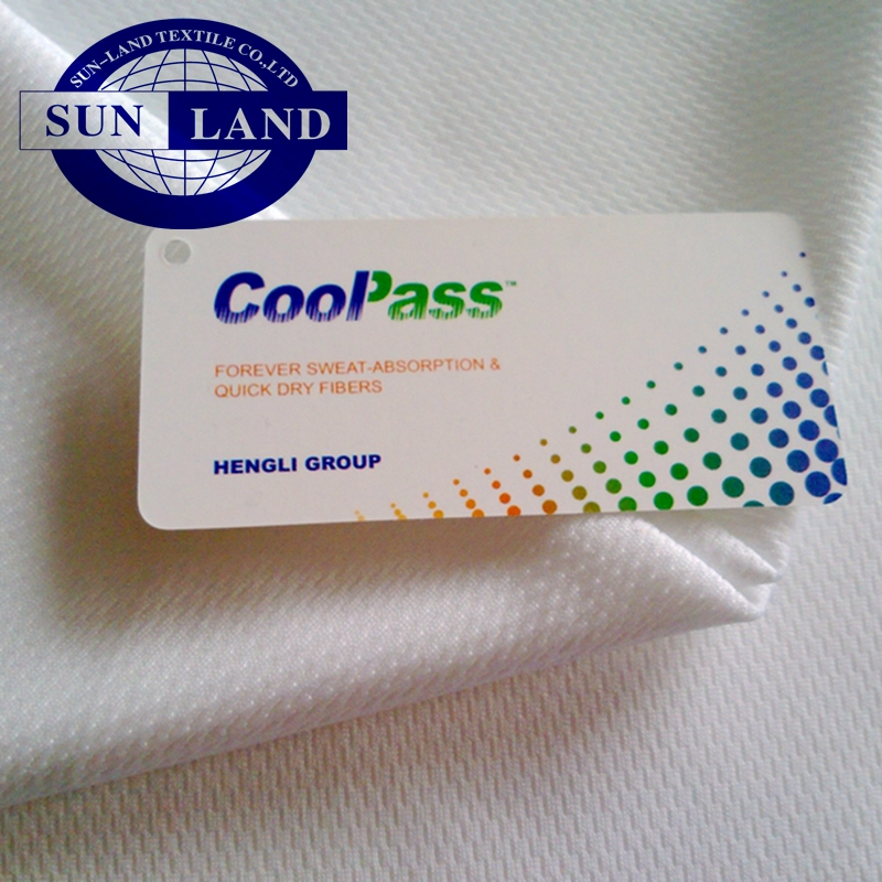 100% coolpass quick dry fabric for activewear sportswear