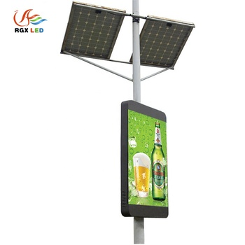 High brightness outdoor full color P4P5 P6 Street Light Pole wireless Led Display Outdoor Waterproof Led Advertising Panels