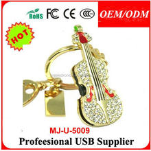 Paypal accept, Valentine's day New Crystal violins usb 2.0 memory flash stick pen thumbdrive 4-32gb
