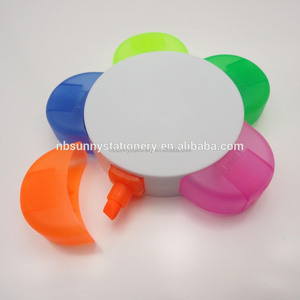 hot sale 5 in 1 popular customized hand shaped highlighter