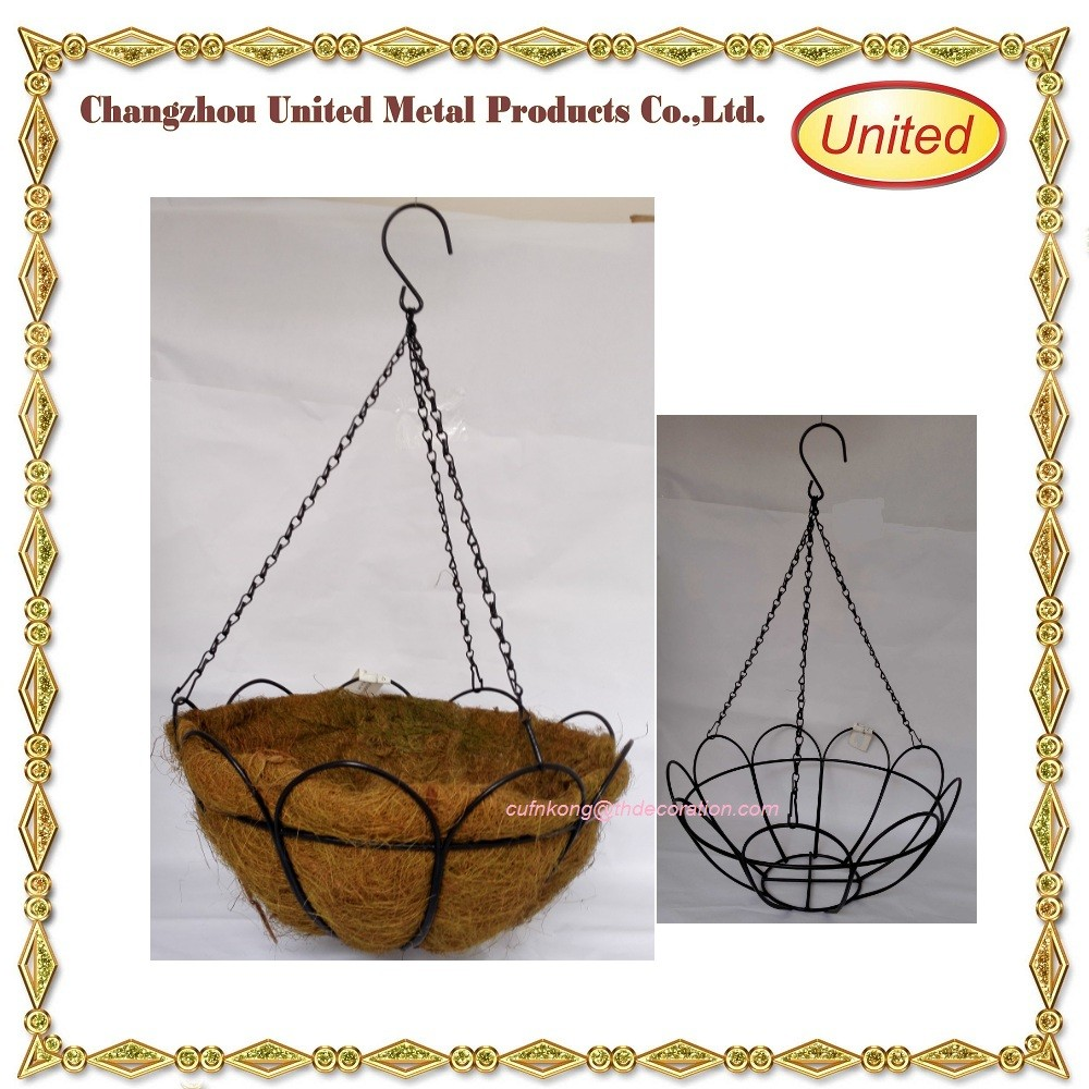 Decorative Hanging Flower Baskets : Big sales lotus wrought iron handmade decorative flower