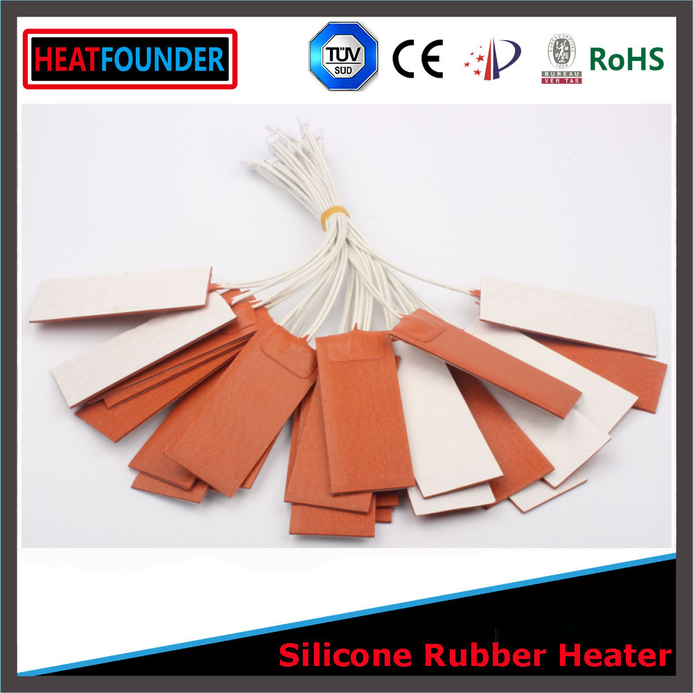 Flexible Silicone <strong>Heater</strong>/Heating/Thermal Mat/Pad/Blanket/Element Silicone <strong>Heater</strong> 24V 15W
