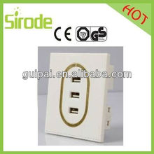 Super Safe Wall Socket Usb With Modern Faceplate