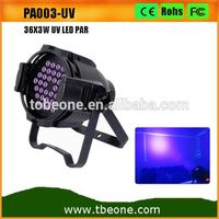 New Led Par led par 64 UV dmx stage lighting 36 x 3w led UV par can dj lights