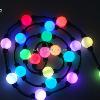 Rgb Led Christmas Lights.2018 Holiday Lighting Rgb Led Round Ball Christmas Lights String 3d Effect Buy Led Christmas Lights Led Round Ball Christmas Lights Led Holiday
