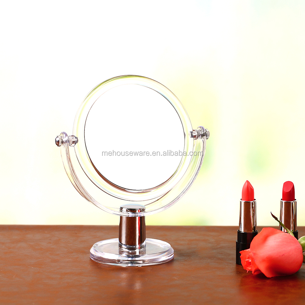 Clear acrylic makeup cosmetic holder organizer/High-end Cosmetic Mirror