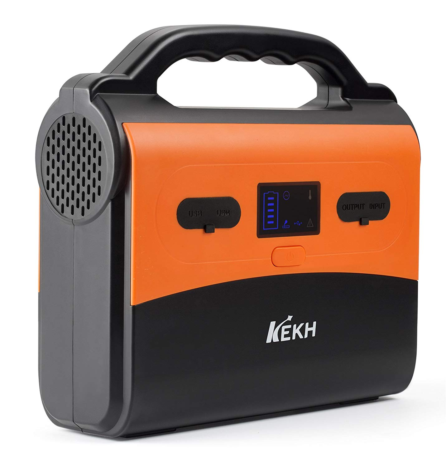 KEKH Portable Power Station Generator -200WH/54000mAh Portable Inverter with 2 AC Output, 2 DC, 2 USB, Power Supply Charged by Solar/Wall Outlet/Cars, LED Flashlights for Camping Travel CPAP