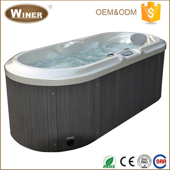 Guangzhou Winer Outdoor Indoor Musical Acrylic Portable 2 Person Leg Spa Bath Mage Hot Tub