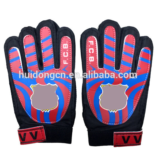 guantes de latex custom logo promotional 7# Synthetic Leather custom american soccer ball football receiver goalkeeper gloves