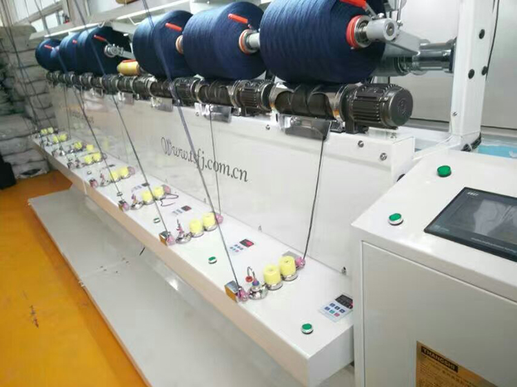 Factory direct sale semi-automatic TS008A yarn Intermingled machine