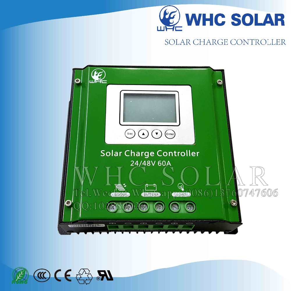Whc Solar Charge Controller 24v 60a View Panel System Circuit Working With Microcontroller Load Short Detailed Image