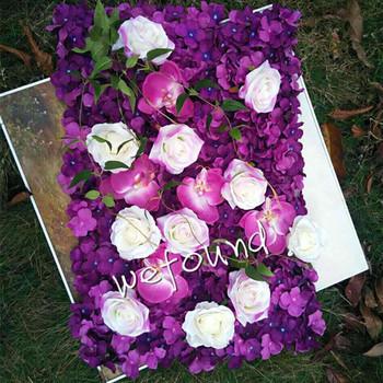 Hygrangea rose orchid flowers backdropsilk flower wallpopular hygrangea rose orchid flowers backdrop silk flower wallpopular wedding arrangement mightylinksfo