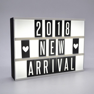A4 light up message board free combination led light box with letter