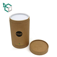 fashionable custom logo printed round box package for tea garments