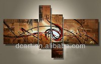 New design canvas oil paintings set of 4