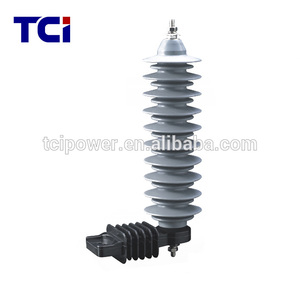 Polymer housing surge arrester 33kv lightning arrester for power distribution