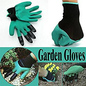 Garden Gloves - Gardening Gloves - Garden Genie Gloves - Garden Gloves with 4 ABS Plastic Claws for garden Digging Planting20 1 pair Drop
