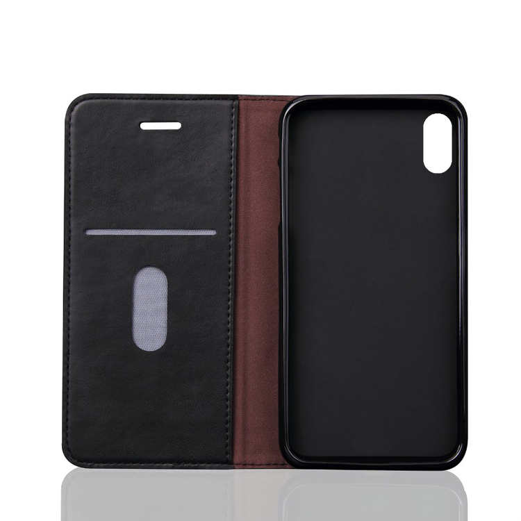 Leather Case Phone Cover with Card Slot For iPhone X Phone Case Cover