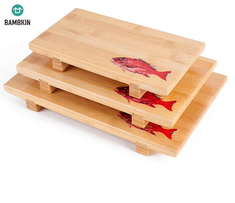 Ramah Lingkungan Sushi Piring Melayani Nampan/Bambu Sushi Piring