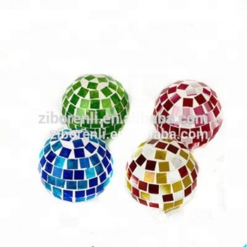 Multi Colored Mosaic Gazing Glass Ball