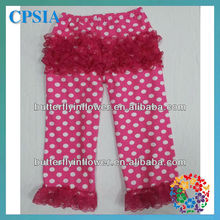 2013 New fashion design cotton baby pants with ruffles kid's petti tights elastic pants for children
