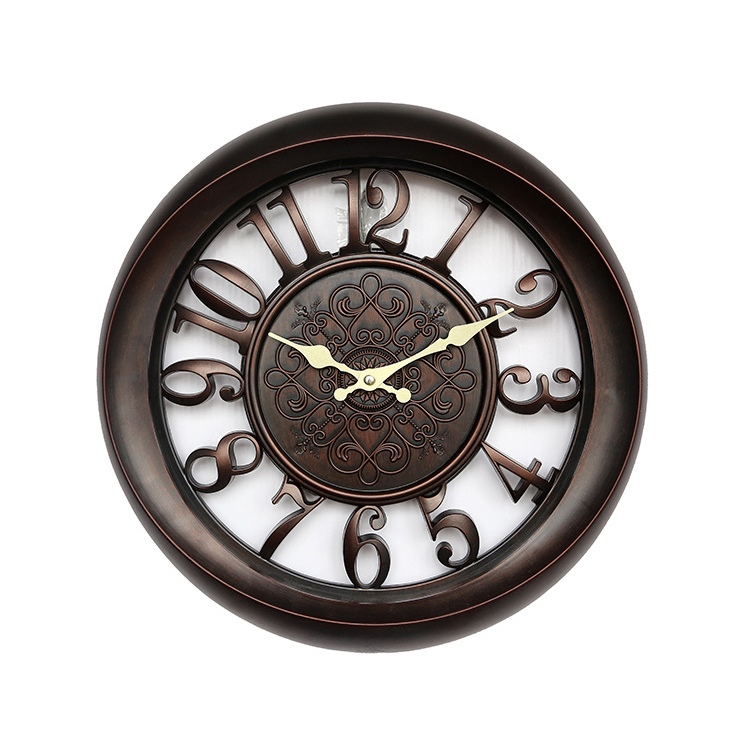 2016 Europe Stylish Retro Vintage 3D Quartz Clock ,Rustic Shabby Chic Home/Office/ Study/Cafe Decoration Art Large Wall Clock