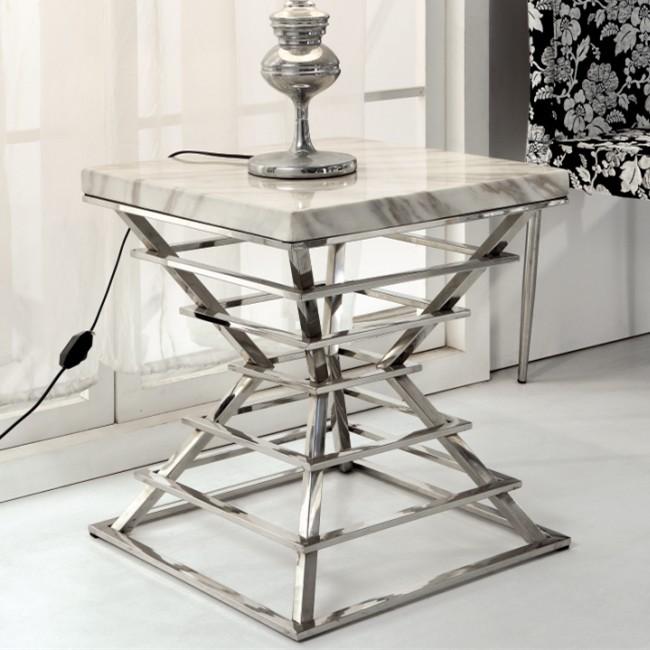 Coffee Table Minimalist Retro: Fashion Minimalist Side Table Marble Glass Marble Corner A