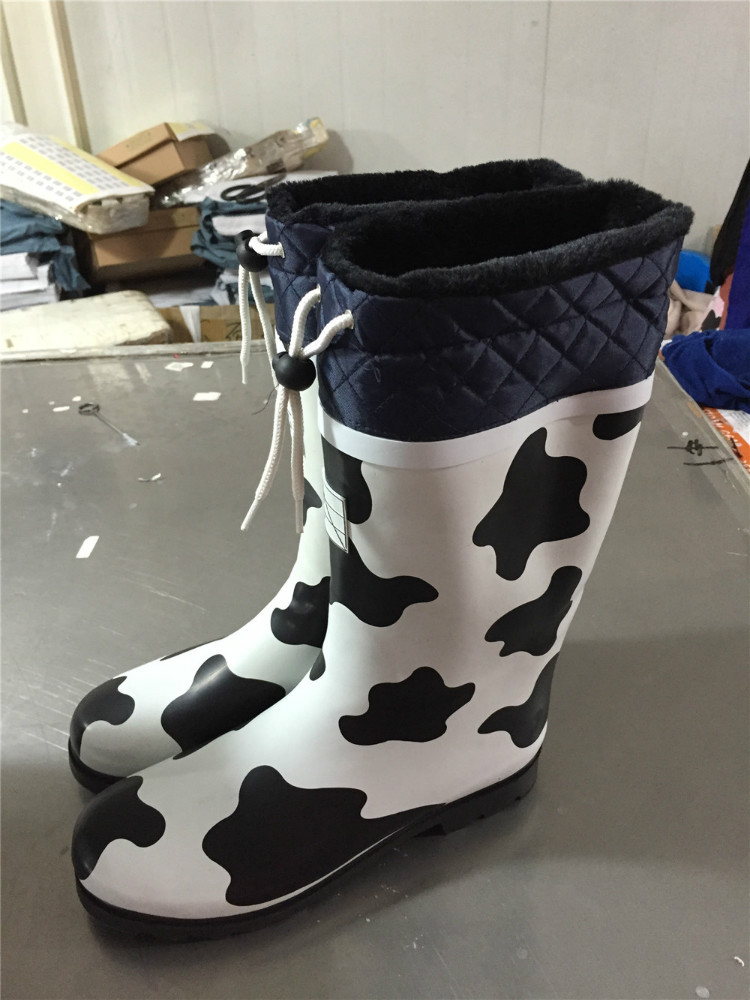 Colourful Cow Print Rubber Rain Boots,Children Transparent Rain ...