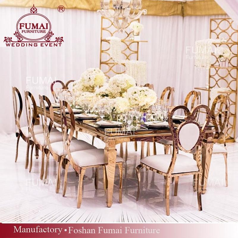 Customized Rectangular Rose Gold Modern Dining Table And Chair Set Buy Table And Chair Set Modern Table And Chair Set Dining Table And Chair Set Product On Alibaba Com