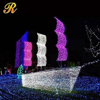 Giant Light Sculpture Mental Frame Ship