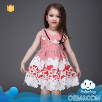 New model frocks designs wholesale flower hand embroidery sleeveless summer fancy lace wedding dresses for baby girl