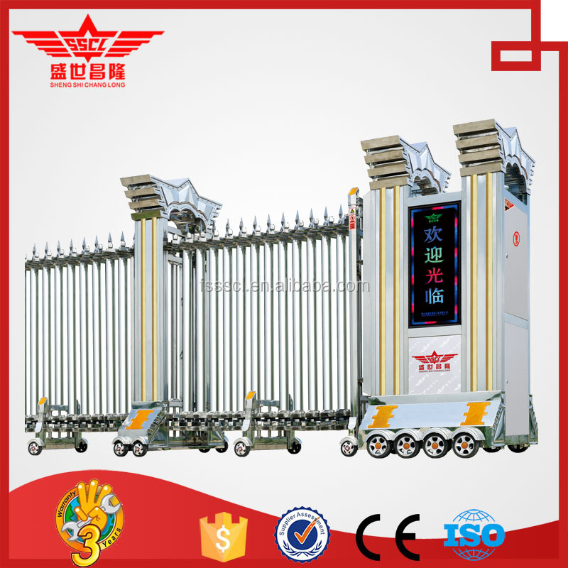 Electric Driveway Retractable Gate For Factory L1405   Buy Electric Driveway  Retractable Gate,Retractable Gat,Gates And Steel Fence Design Retractable  Gate ...
