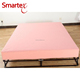 anti-allergy waterproof flannel fleece mattress protector cover in pink color