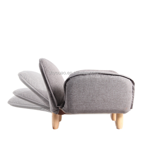 leisure modern style one seat lazy low back sofa chair simple adjustable backrest wooden feet soft base sofa chair