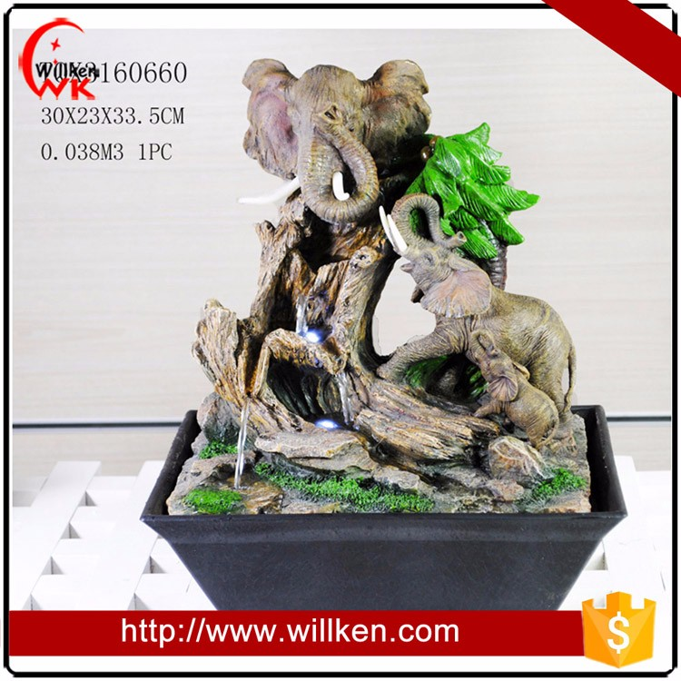 Animal designs small elephant tabletop water fountains