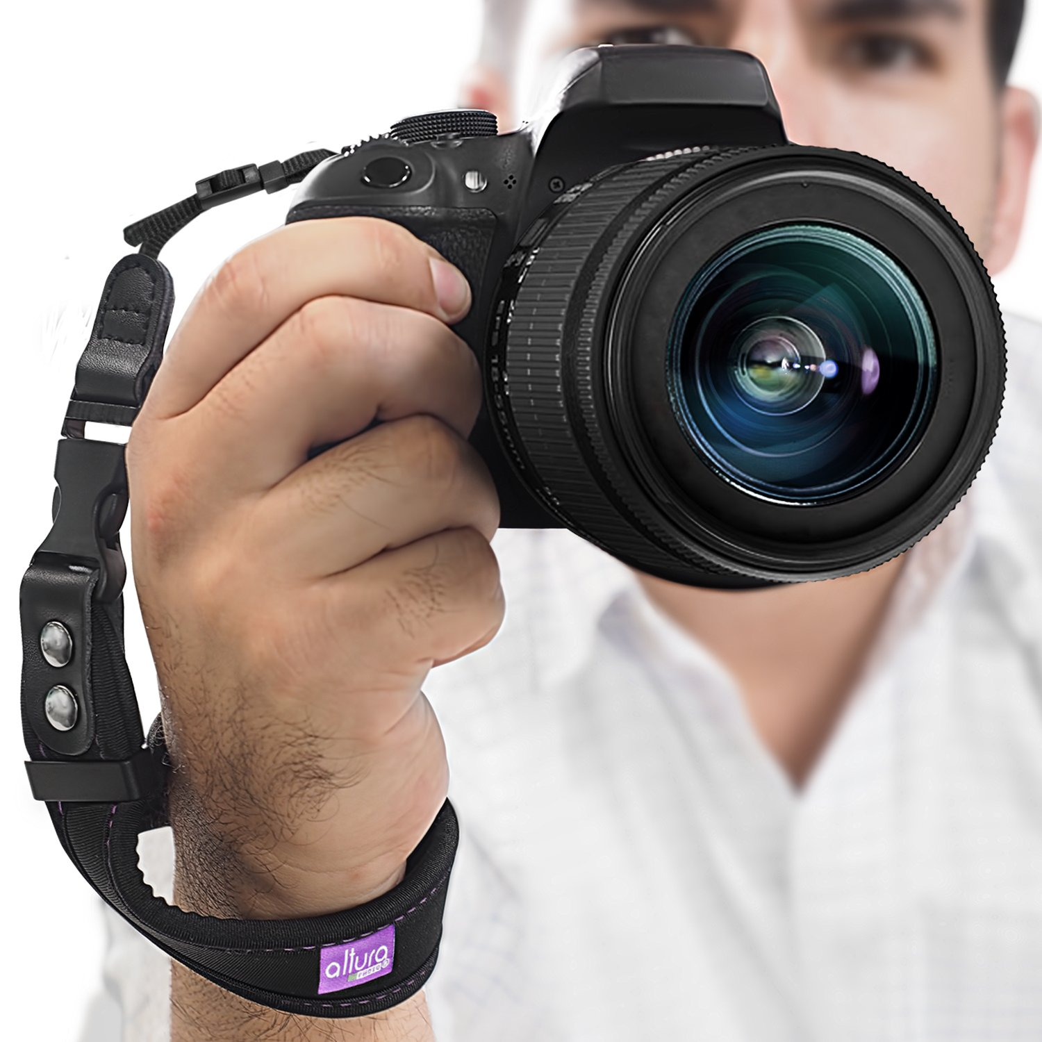 Camera Hand Strap - Rapid Fire Heavy Duty Safety Wrist Strap by Altura Photo w/ 2 Alternate Connections for Use w/ Large DSLR or Point & Shoot Cameras (2016 Update)