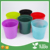 free sample small blue color plastic flowerpot for home decorate