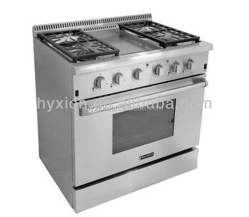 Hyxion Thor Kitchen 36 Inch Freestanding Gas Range Without Backsplash