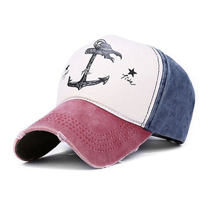 Wholesale 100 cotton baseball cap big eaves running sports hats hit colour 3D embroidery 5 panel hat