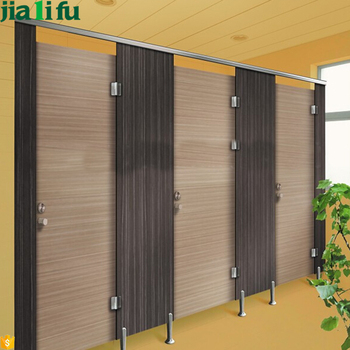 Commercial waterproof material wooden compact laminate board for bathroom partition walls buy for Commercial bathroom partition walls